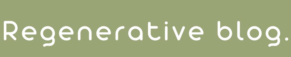 regenerative blog ロゴ画像